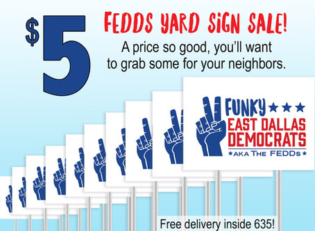Show FEDDs' Pride with a Yard Sign