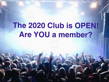 The 2020 Club Is Now Open!