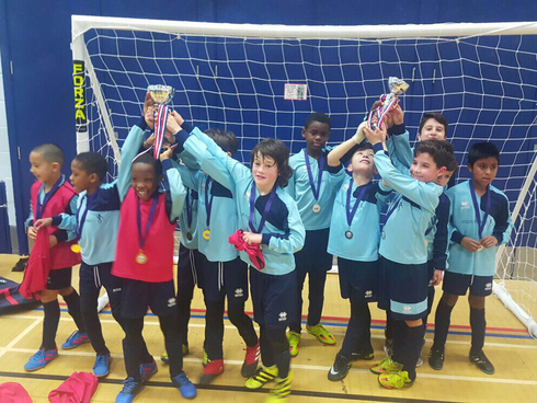 Focus Winners and Runners up - U9 Futsal Tournament