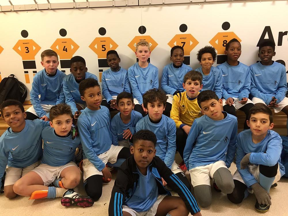 Focus Football Kids playing at Wolverhampton