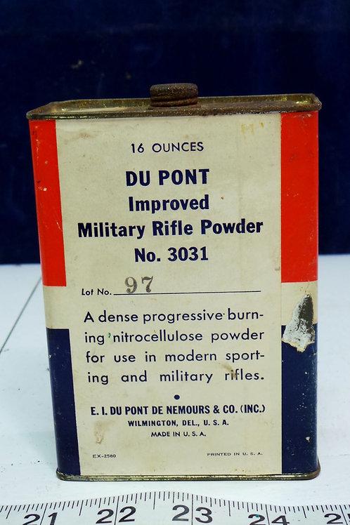 Dupont Military Rifle Powder Number 3031