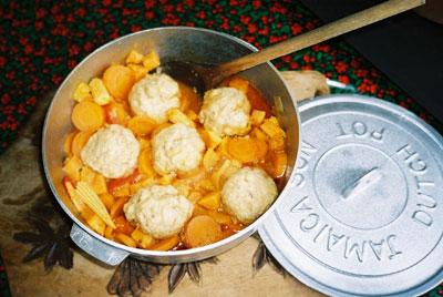 Sunshine Stew & Dumplings