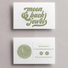 Moon & Back Jewels Business Card