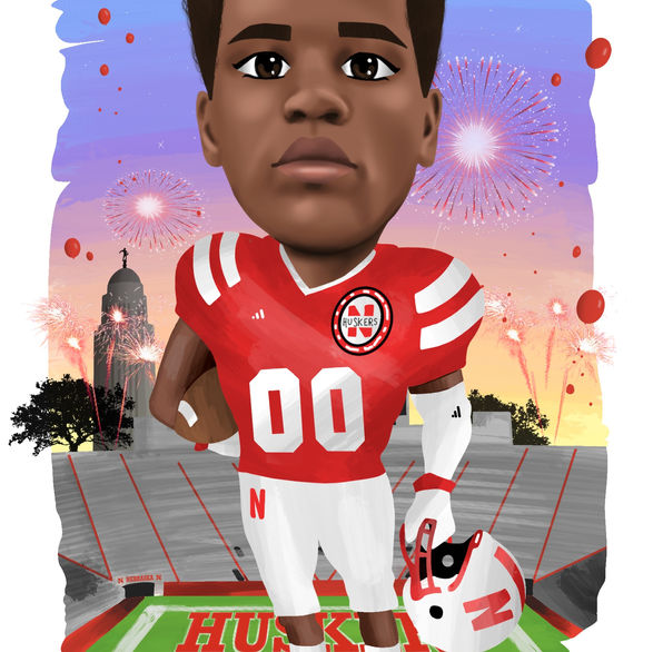 Nebraska Football Illustrations