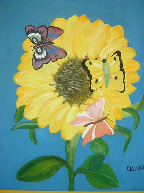 Sunflower and Butterflies