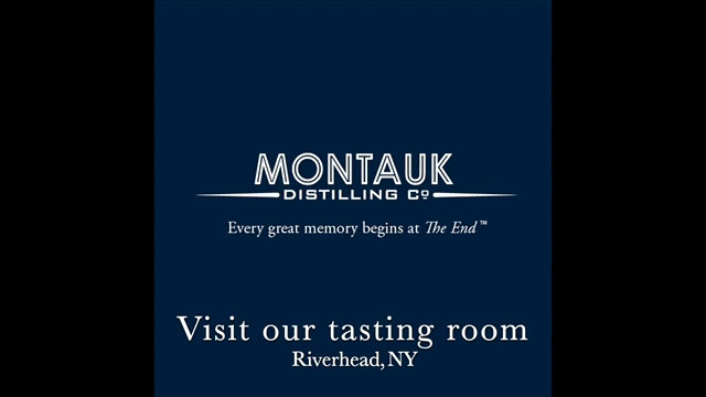 Montauk Distilling Co. 100 ml Bottle Label Design