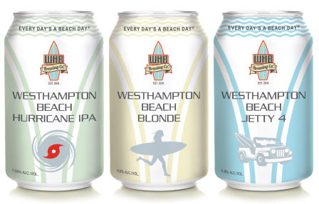 WHB Brewery cans