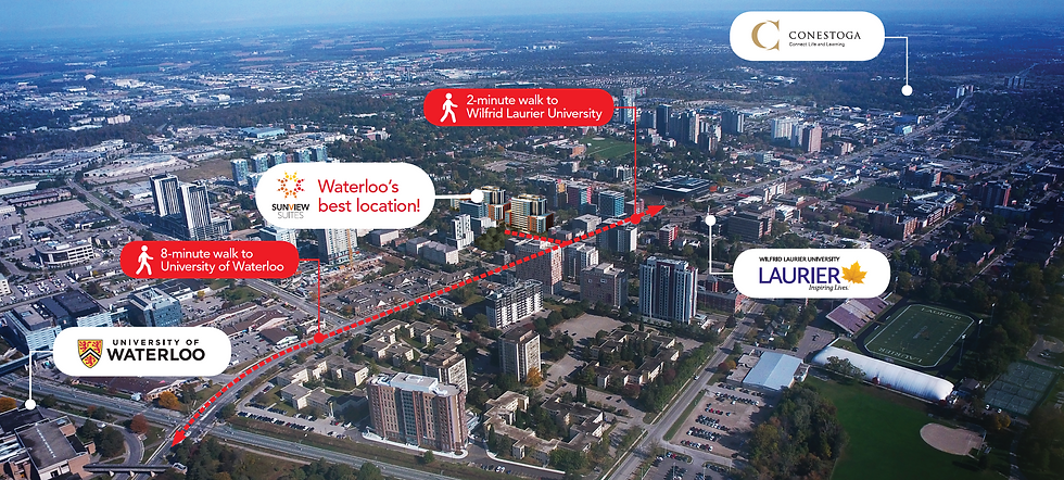 Waterloo's Best Location, Sunview Suites Luxury Condos