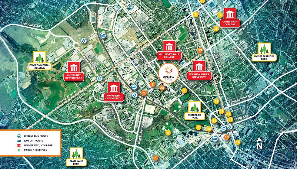 Sunview Suites Condos Locaton Map