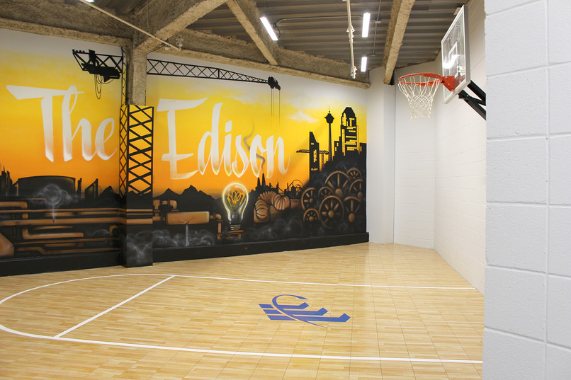 The Edison Basketball Practice Court