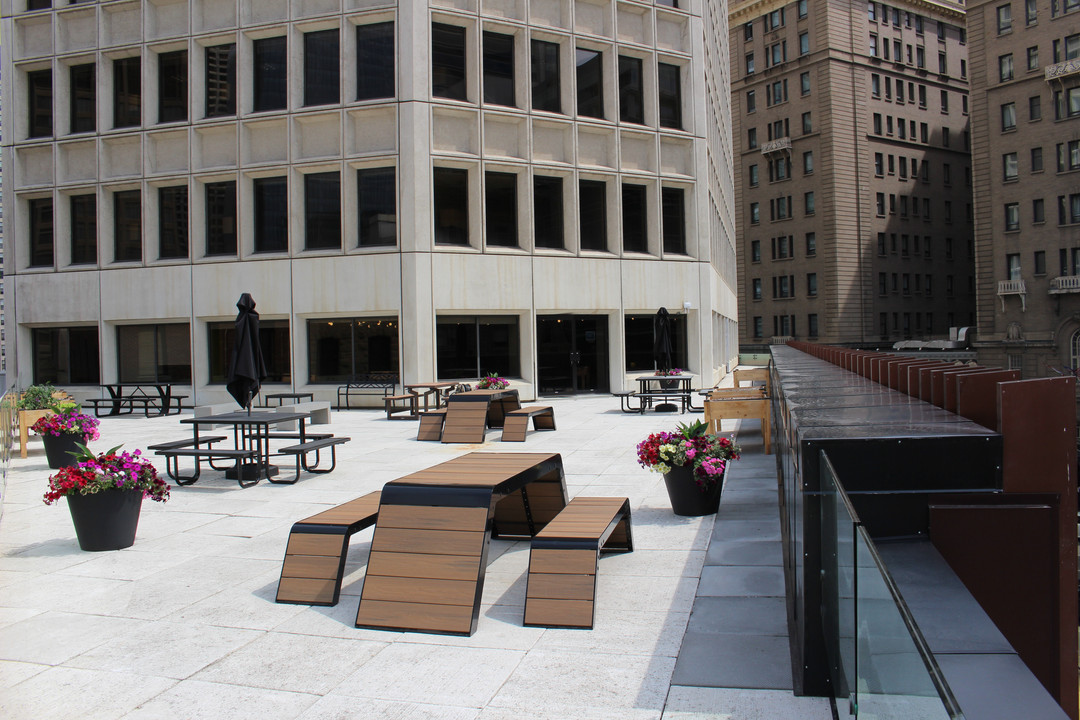 The Edison Tenant Lounge Patio