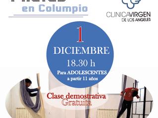 Demostración Pilates para Adolescentes y hombres.