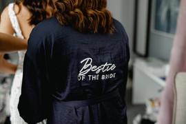 bestie of the bride robe