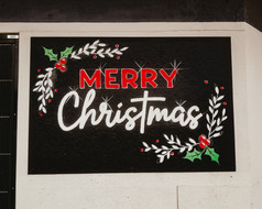 Merry Christmas chalkboard sign painting