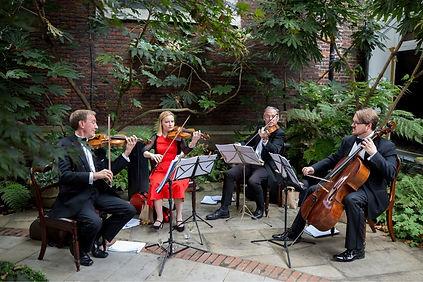 Stretto Quartet in a Churchyard