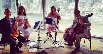 Stretto Quartet in the Shard