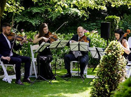 Stretto Quartet in a Garden