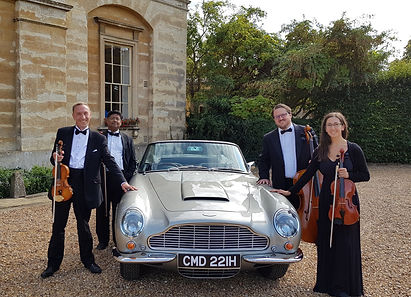 Stretto Quartet with an Aston Martin