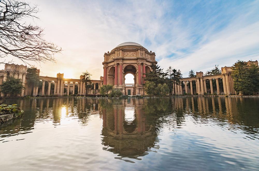 SF wedding spots. Palace of fine arts