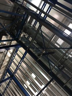 5-tier mezzanine installation
