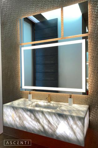 Custom Illuminated Mirror Collage