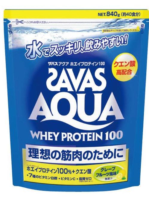 ザバス アクア ホエイプロテイン100 グレープフルーツ風味(無果汁)840g(約40食分)