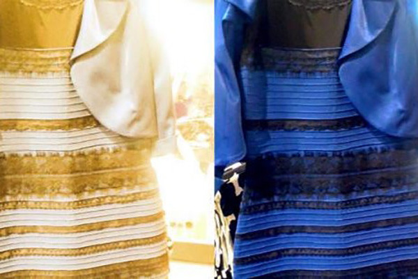 "Two versions of ""The Dress,"" from 2015."