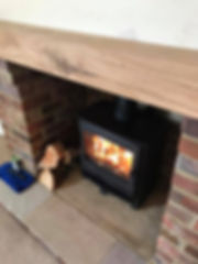 Log Burning Stove supplied and fitted by Consett Gas Stoves & Bathrooms