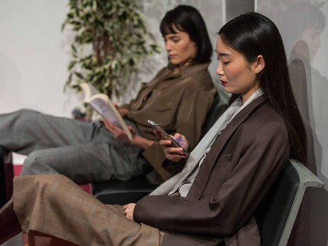 Power and practicality of womenswear in an artificial airport – EFTYCHIA AW20 at LFW
