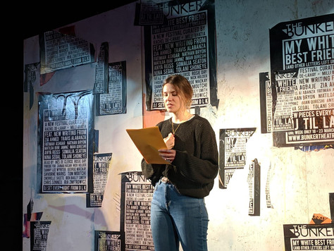 'My White Best Friend (And Other Letters Left Unsaid)' - The Bunker Theatre