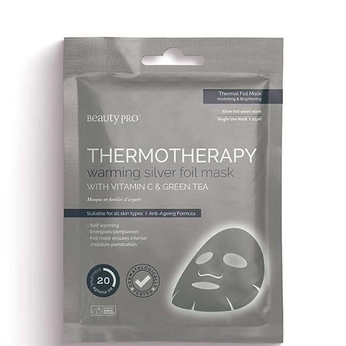 Beauty Pro Thermotherapy Warming Silver Foil Mask with Vitamin C & Green Tea