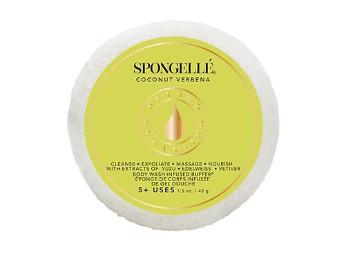 Spongelle  Body Wash Infused Spongette Coconut Verbena 1.5oz