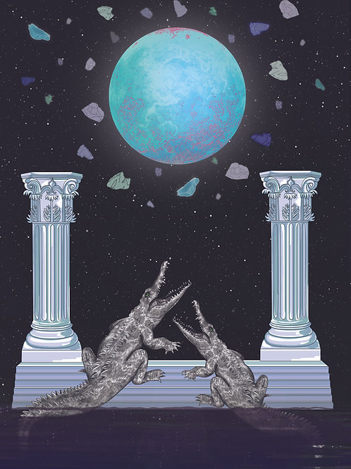 Tarot Moon card