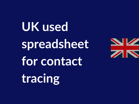 UK used Excel for contact tracing