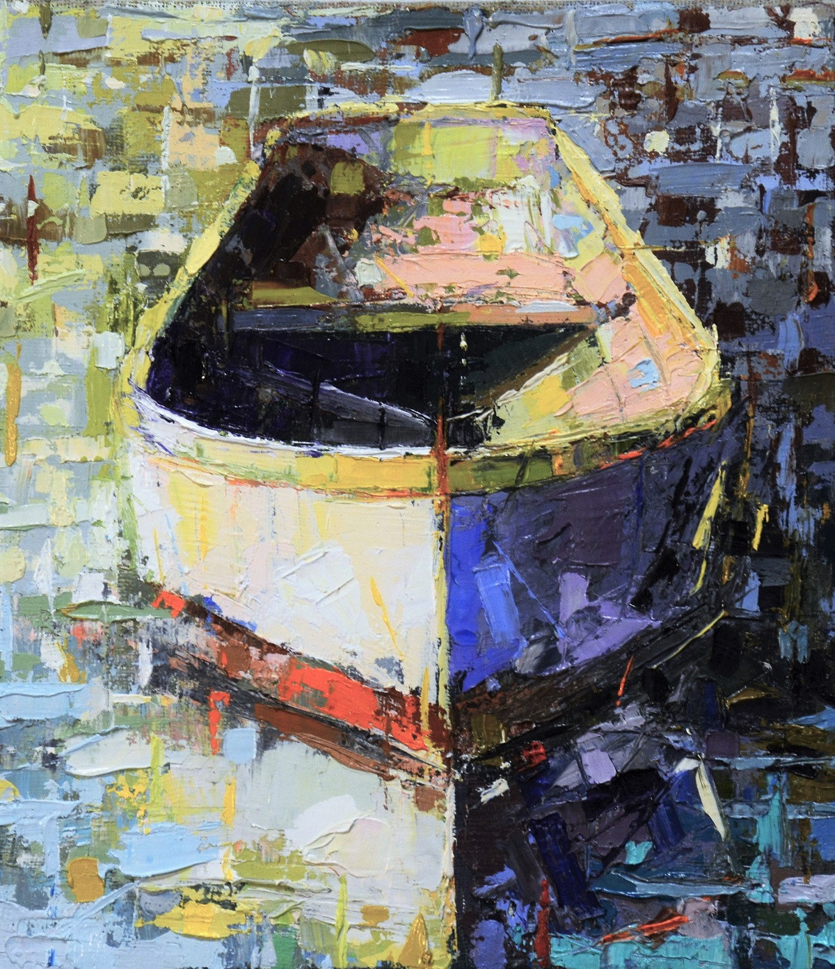 Painting with Boat   Kim McAninch