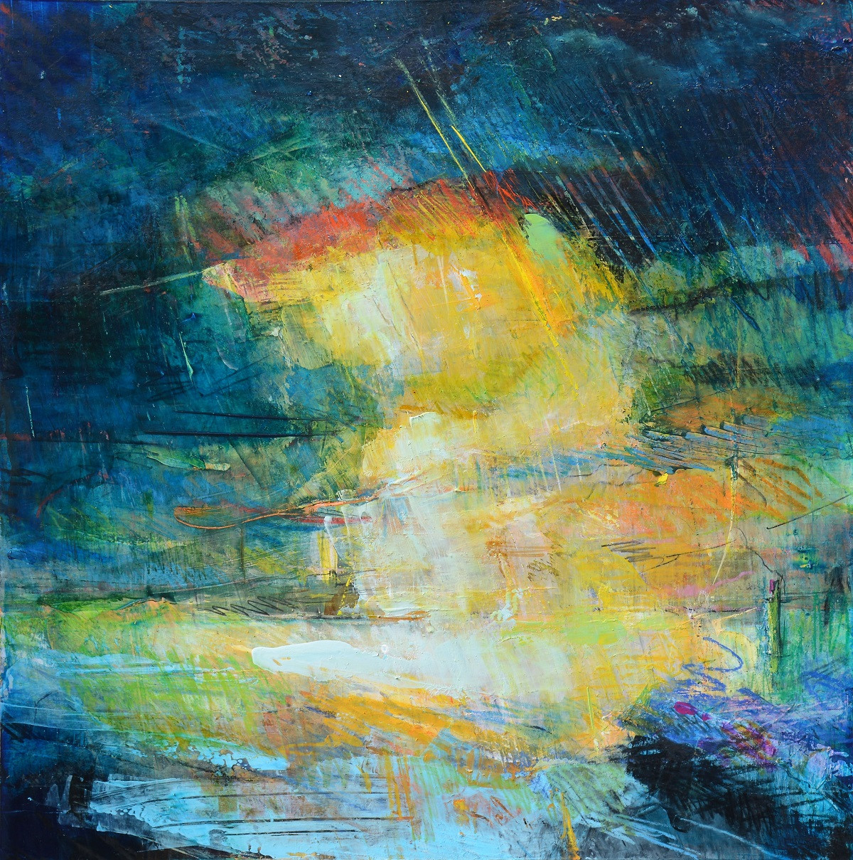 Abstract Landscape on Paper   Kim McAninch