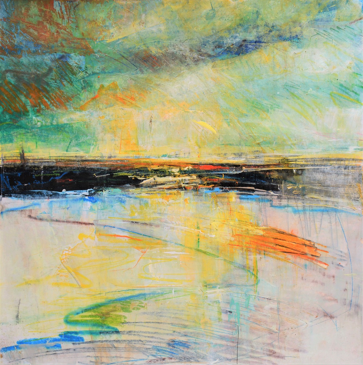 Abstract Art on Paper   Kim McAninch
