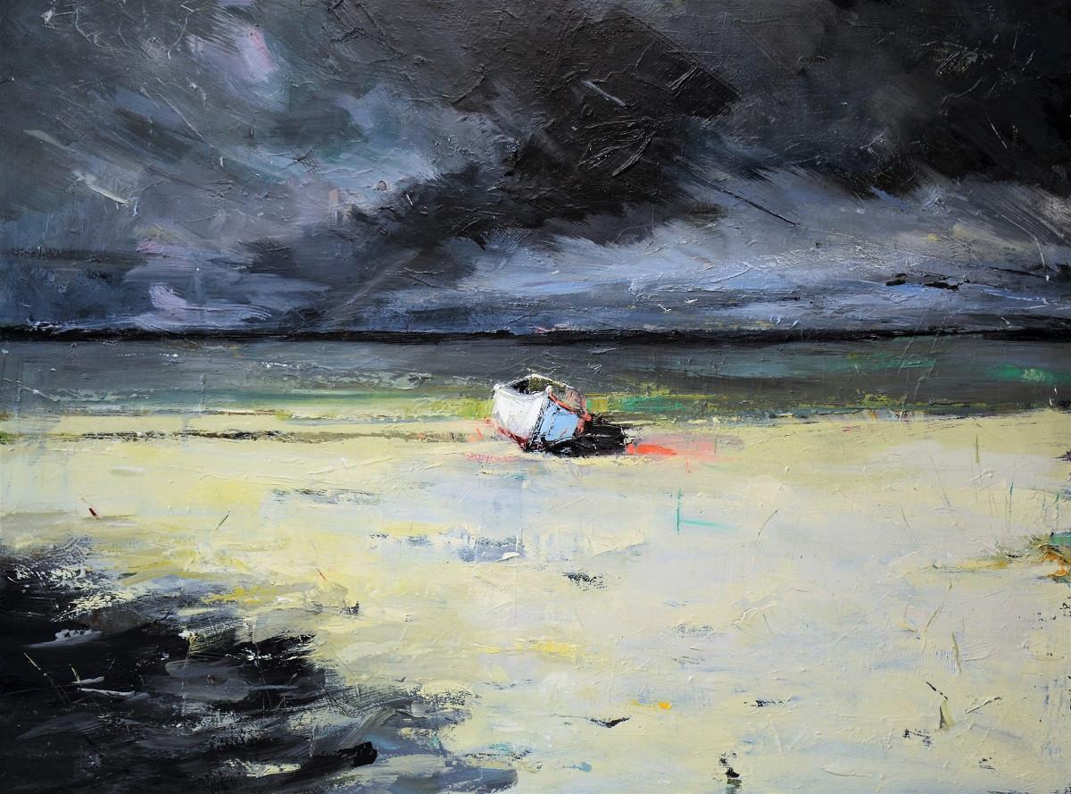 Boat on Beach Painting   Kim McAninch