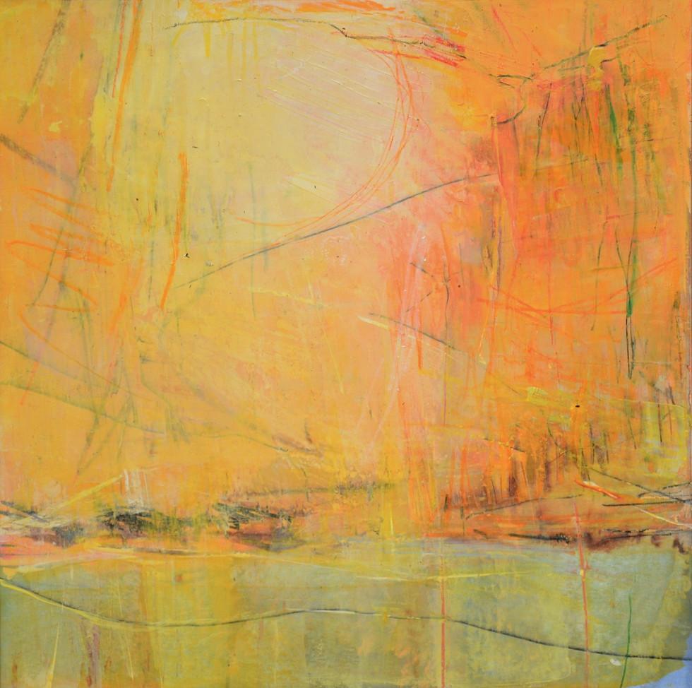 Sun Oil Painting on Paper | Kim McAninch