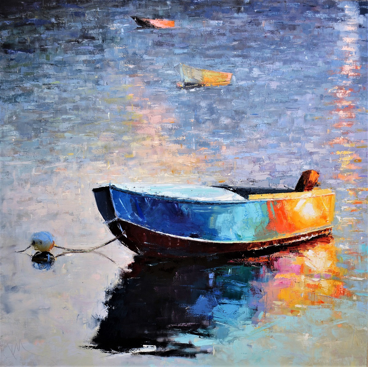 Boat Reflections Paintings   Kim McAninch
