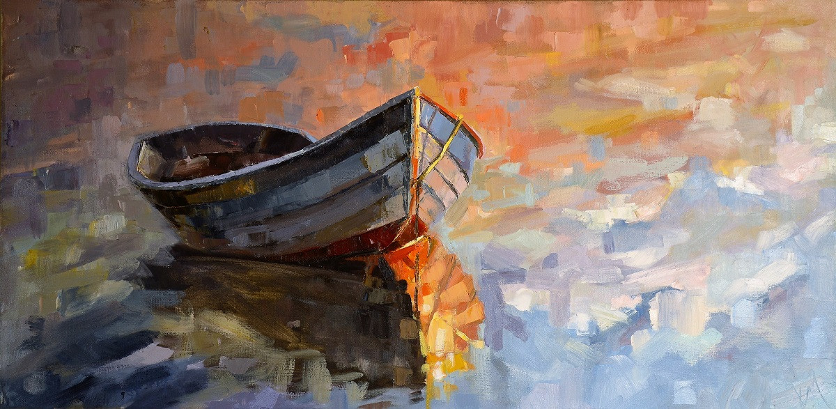Large Boat Oil Paintings   Kim McAninch