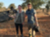 Micaela and Neil on a game capture operation in Zimbabwe