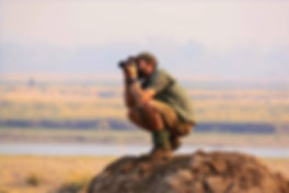Neil looking for lions in Mana Pools National Park