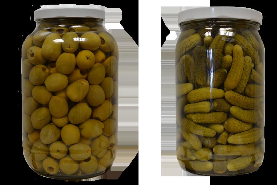 olives + pickles