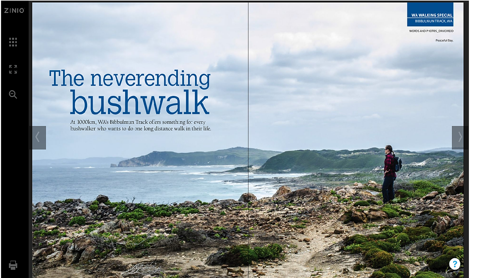 The online version of my feature article in Great Walks Magazine