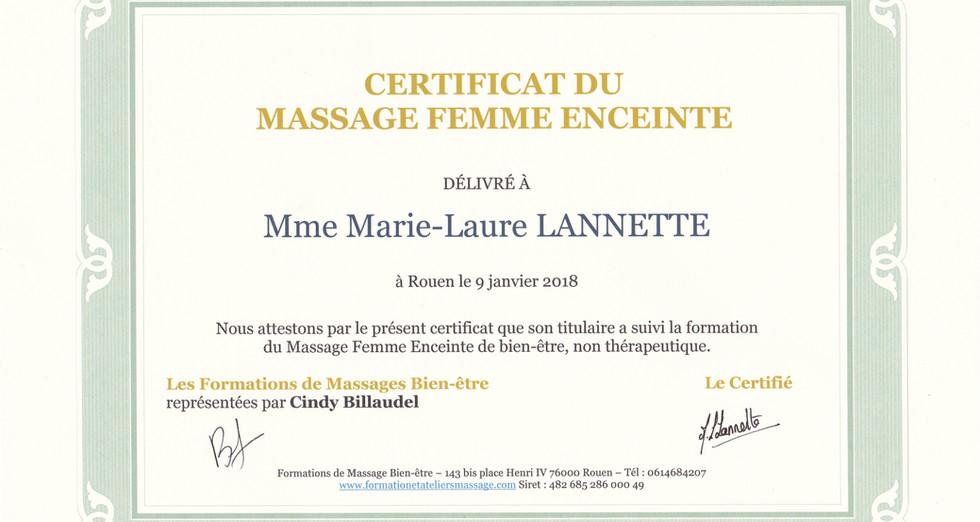 Certificat massage femme enceinte