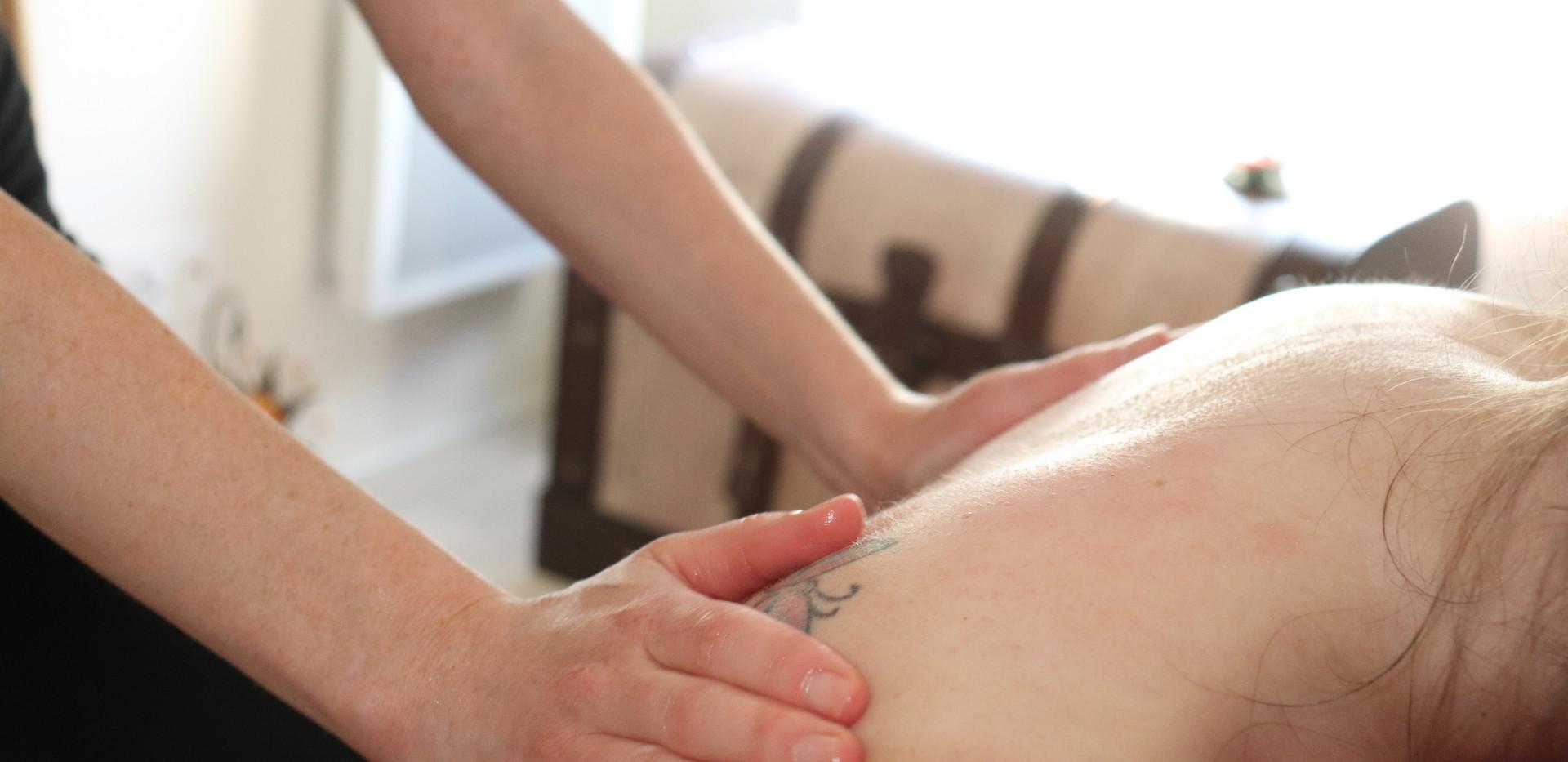 Massage prénatal dos