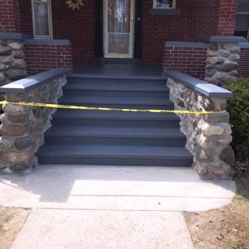 CONCRETE STEP CONSTRUCTION