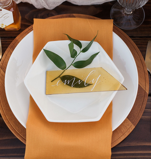 Honey Farm to Table Wedding Placesetting