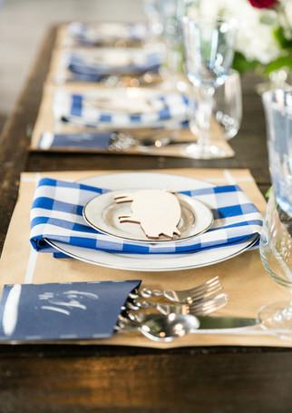 Backyard BBQ Wedding Tablescape